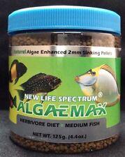 NEW LIFE SPECTRUM ALGAEMAX HERBIVORE DIET FOOD 125 GM 2 mm SINKING PELLETS NLS