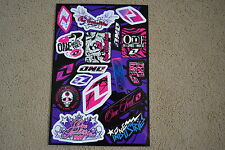 ONE INDUSTRIES GIRL  UNIVERSAL GRAPHICS STICKERS 12X18 SHEET