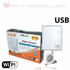 AMPLIFICATORE USB WIRELESS 36dbi 150 MBPS ANTENNA WIFI RICEVITORE WI-FI HI-150M