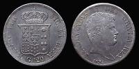 pci1194) Napoli Regno delle Due Sicilie Ferdinando II Piastra 120 gr 1834