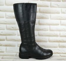 TIMBERLAND Waterproof Womens Black Leather Long Knee High Boots Size 5 UK 38 EU