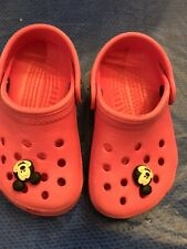 Used Crocs Toddler Girls Size 4/5Pink Kids Shoes