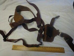 Barsony Hand-Crafted Leather/web Adjustable Shoulder Holster - Beaverton OR