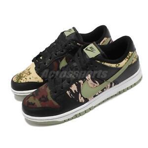 Nike Dunk Low SE Crazy Camo Black Green Khaki White Men Casual Shoes DH0957-001