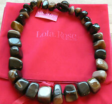 "Lola Rose Fayanna Zebra Jasper Large Chunky look stunning  Necklace 22"" new"
