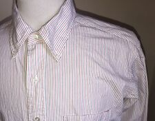 Vintage Brooks Brothers Sz 17/36 Red White Blue Striped Cotton Dress Shirt - USA
