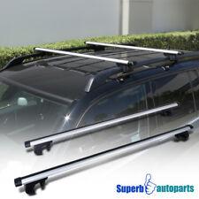 """48"""" Aluminum Car Top Cross Bar Crossbar Silver Roof Rack+Clamps Lock & Keys Kit"""