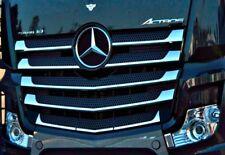 MERCEDES ACTROS Griglia Radiatore MP4 copre Super Lucido Acciaio Inox 11 PZ