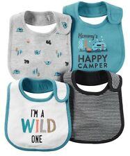New Carter's Baby Infant Boys Lot Of 4 Pack Teething Bibs NWT