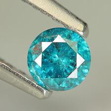 NICE BEAUTIFUL 0.24 Ct NATURAL Huge BLUE ROUND DIAMOND !!! SEE VDO