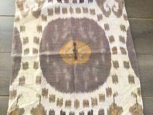 "Pottery Barn Pillow Cover Ikat Rustic Boho Chic Neutral Tan  24"" x 24"""
