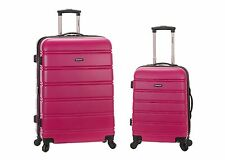 New Rockland Luggage 20 Inch and 28 Inch 2 Piece Expandable Spinner Set -Magenta