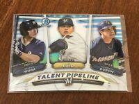 2018 Bowman Chrome Baseball Talent Pipeline - Keston Hiura - Milwaukee Brewers