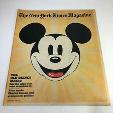 The New York Times Magazine: 8/1/76 Section 6 Old Disney Magic Charles Colson