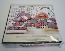 TWIN DUVET COVER AND 1 PILLOW SHAM, bed.lam GRAFFITI PATTERN, 100% COTTON