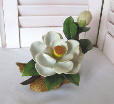 Vintage Andrea by Sadek Camellia Bisque Flower Figurine #7036 Japan 1984