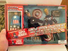"Captain America Limited Edition Mego style Retro 8"" 3 Figures Diamond Select NIB"