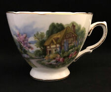 Beautiful Royal Vale Country Scene 7382 Fine Bone China Tea Cup-FREE SHIPPING!!!