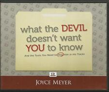 WHAT THE DEVIL DOESN'T WANT YOU TO KNOW    4 CDs Joyce Meyer