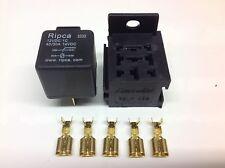 12V 40/30amp Relay 5 pin change over Relay +  Relay base / holder