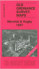 OLD ORDNANCE SURVEY MAP WARWICK RUGBY LEAMINGTON KENILWORTH WILLENHALL 1897