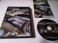 Need For Speed Most Wanted BLACK Label Sony Playstation 2 PS2 Complete N4S Racin