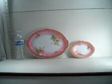 VINTAGE CLAIRON PLATTER AND VASE GERMANY