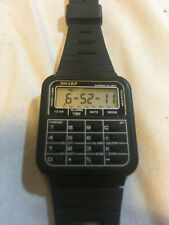 Vintage Sharp Calculator Mens Digital Alarm Chronograph Watch 437206 Works