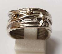 Pandora Damenring 925/- Silber mit 585/- Gold Fassung 190846D-56 585/- Gelbgold,