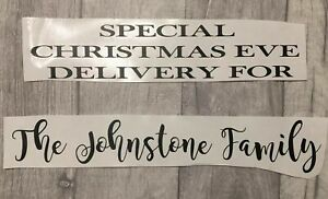 Personalised Christmas Eve Box Crate Vinyl Decal Xmas Family Name Sticker Craft