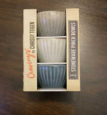 New listing Cravings by Chrissy Teigen 3 Piece Stoneware Pinch Bowls (Brand New)