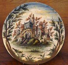 Grande Piatto in ceramica Albisola cm 42, policroma decorata a mano, firmato