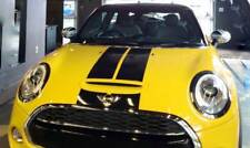 New - Mini Cooper Gloss Black Viper Bonnet & Boot Stripes Set - High Grade Vinyl