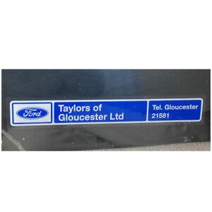 Ford Dealer Taylors of Gloucester Ltd WINDOW dealership sticker decal 260 x 40mm