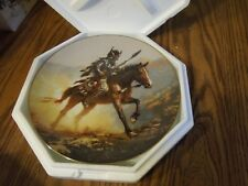 """Mystic Warriors 8"""" Plate Collection Spirit Of The Plains C.O.A. & foam packing"""