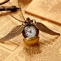 Vintage Snitch Watch Necklace Steampunk Quidditch Pocket Clock Penda