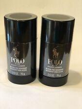 Ralph Lauren Polo Black Men's 2 x 2.6oz Deodorant Stick Brand New Sealed 2 Pcs.