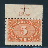 Dt.Reich 1921, Mi. 194 c P OR **, Farbe + Oberrand geprüft! Mi. 250,--!!