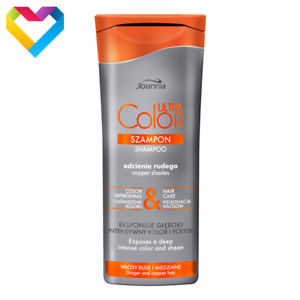 JOANNA Ultra Color System Shampoo Gives ORANGE Shade Ginger Copper Hair 200ml