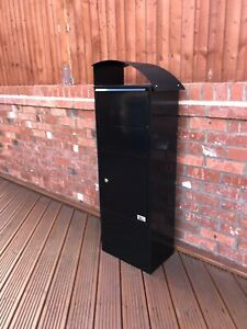 METZ Large Black Lockable Letter Box Post Mail Letterbox Drop Tall Parcel Box
