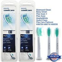 6X Philips Sonicare ProResults HX6013 Replacement Toothbrush Brush Heads