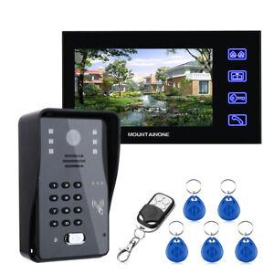 "7"" Video Intercom Doorbell,With Camera+RFID Password+Wireless Remote Access+Card"