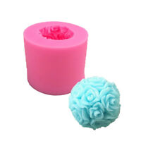 3D Flower Rose Silicone Mould Clay Candy Cake Chocolate Mold Fondant'Decor Mould