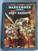 WARHAMMER 40K ARMY RULE BOOK CODEX GREY KNIGHTS GAMES WORKSHOP SPACE MARINES OOP