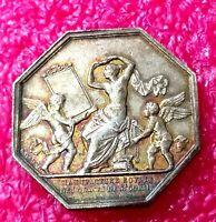 1830 Paris Nude Dancer with Angels Splendid Art Nouveau French Silver medal