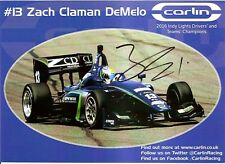 2017 ZACH CLAMAN DEMELO signed INDIANAPOLIS 500 HERO PHOTO CARD INDY CAR CANADA
