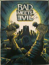 """Eminem Royce da 5'9"""" Signed Autograph Bad Meets Evil Lithograph Print"""