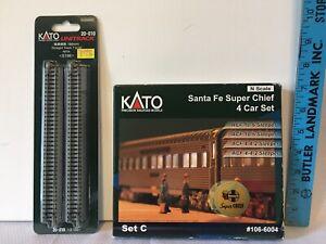 KATO #106-6004 Santa Fe Super Chief 4-Car Set C Sleeper Cars N Scale New In Box