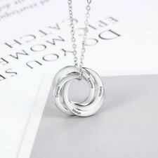 Personalised Family Necklace With 3-4 Names Stainless Steel Custom Engraved