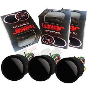 "Voltage Oil Pressure Air Fuel Ratio Gauge 52mm 2"" Meter LED Smoke Tint JDM Tach"